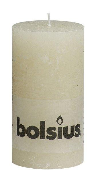 Bolsius kaarsen Pillar candle rustic 130/68 ivory