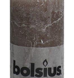 Bolsius kaarsen Stompkaars rustiek 130/68 taupe
