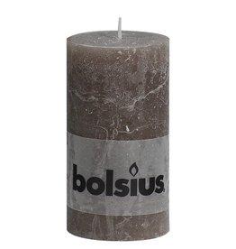 Bolsius kaarsen Stump candle rustic 130/68 taupe