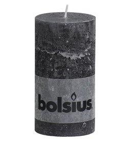 Bolsius kaarsen Stump candle rustic 130/68 anthracite