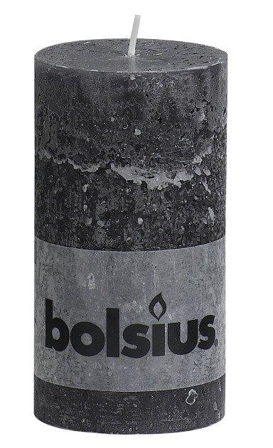 Bolsius kaarsen Bougie bougie rustique 130/68 anthracite