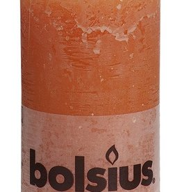 Bolsius kaarsen Stompkaars rustiek 130/68 oranje