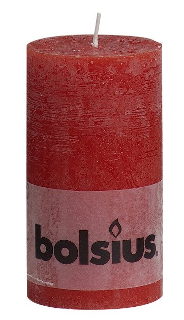 Bolsius kaarsen Stompkaars rustiek 130/68 rood