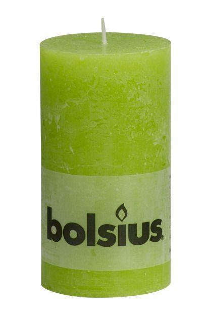 Bolsius kaarsen Stompkaars rustiek 130/68 lime