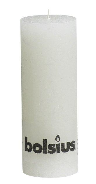 Bolsius kaarsen Pillar candle rustic 190/68 white