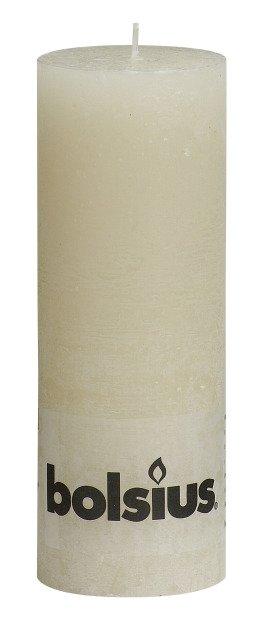 Bolsius kaarsen Pillar candle rustic 190/68 ivory