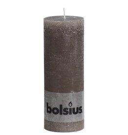 Bolsius kaarsen Pillar candle rustic 190/68 taupe