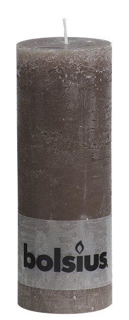 Bolsius kaarsen Pilier bougie rustique 190/68 taupe