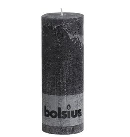 Bolsius kaarsen Pillar candle rustic 190/68 anthracite