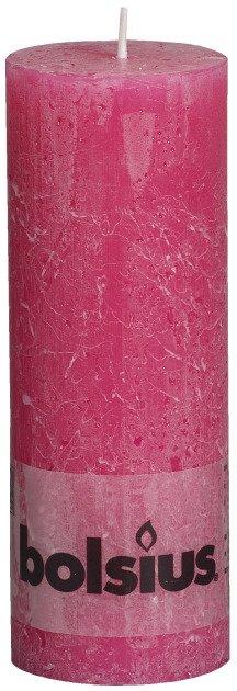 Bolsius kaarsen Pilier bougie rustique 190/68 fuchsia