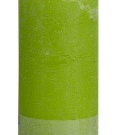 Bolsius kaarsen Stompkaars rustiek 190/68 lime