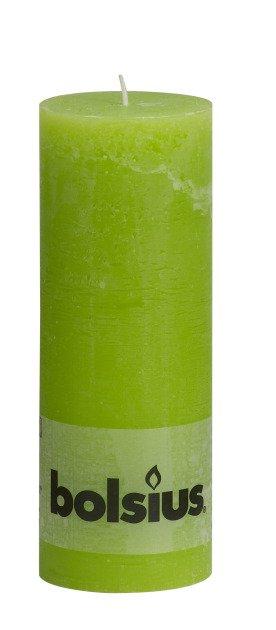 Bolsius kaarsen Pillar candle rustic 190/68 lime