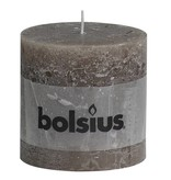 Bolsius kaarsen Pillar candle rustic 100/100 taupe