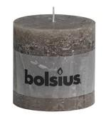 Bolsius kaarsen Stompkaars rustiek 100/100 taupe