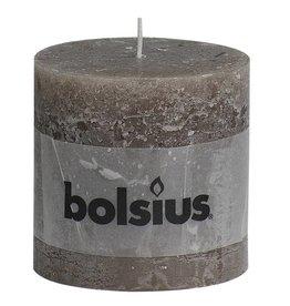 Bolsius kaarsen Pilier bougie rustique 100/100 taupe