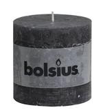 Bolsius kaarsen Pillar candle rustic 100/100 anthracite