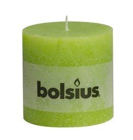 Bolsius kaarsen Pillar candle rustic 100/100 lime