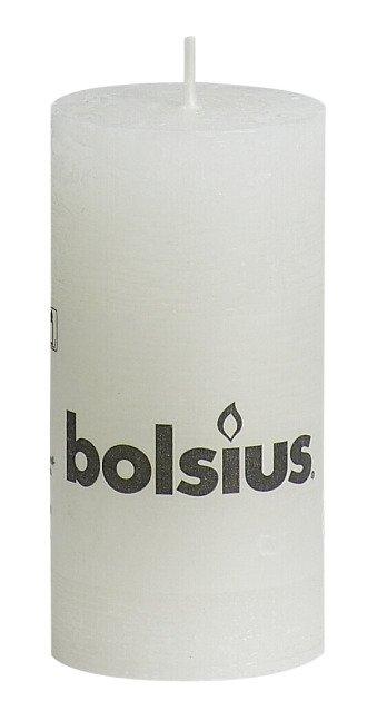 Bolsius kaarsen Pillar candle rustic 100/50 white