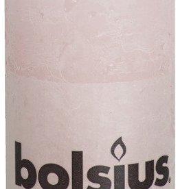 Bolsius kaarsen Pillar candle rustic 100/50 pastel pink