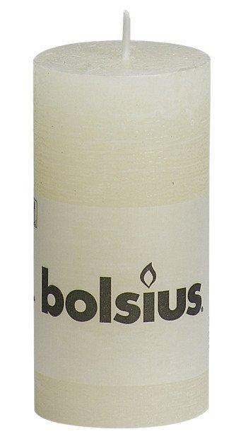Bolsius kaarsen Pillar candle rustic 100/50 ivory
