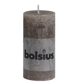 Bolsius kaarsen Pilier bougie rustique 100/50 taupe