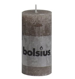 Bolsius kaarsen Pillar candle rustic 100/50 taupe