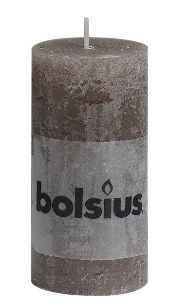 Bolsius kaarsen Stompkaars rustiek 100/50 taupe