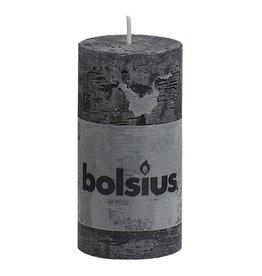 Bolsius kaarsen Pillar candle rustic 100/50 anthracite