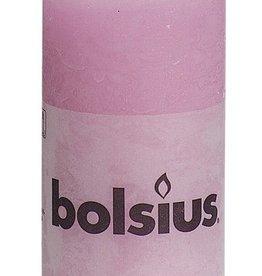 Bolsius kaarsen Pillar candle rustic 100/50 pink