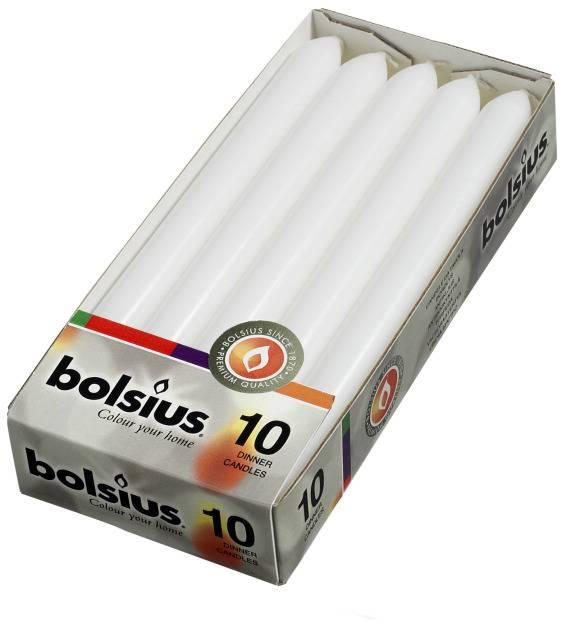 Bolsius kaarsen Dinner candle 230/20 white