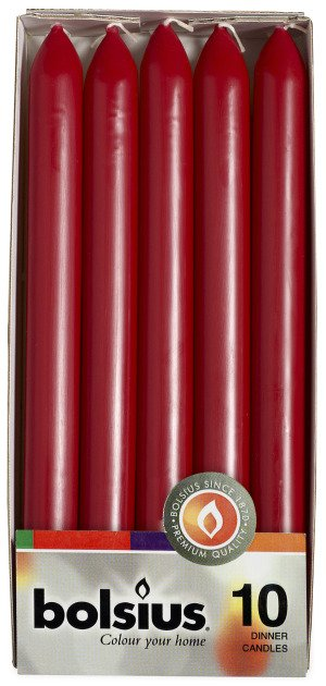 Bolsius kaarsen Dinner candle 230/20 wine red