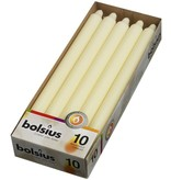 Bolsius kaarsen Table candle 290/22 ivory