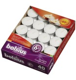 Bolsius kaarsen Tealight 6 hours white
