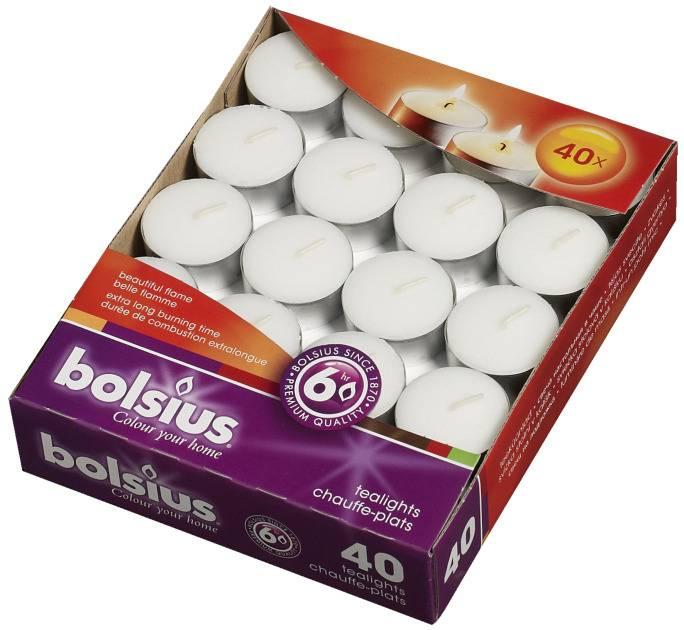 Bolsius kaarsen Bougie chauffe-plat 6 heures blanche