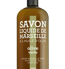 Compagnie de Provence Navulling Savon vloeibare handzeep groene olijf