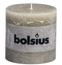 Bolsius kaarsen Stompkaars rustiek 100/100 kiezelgrijs