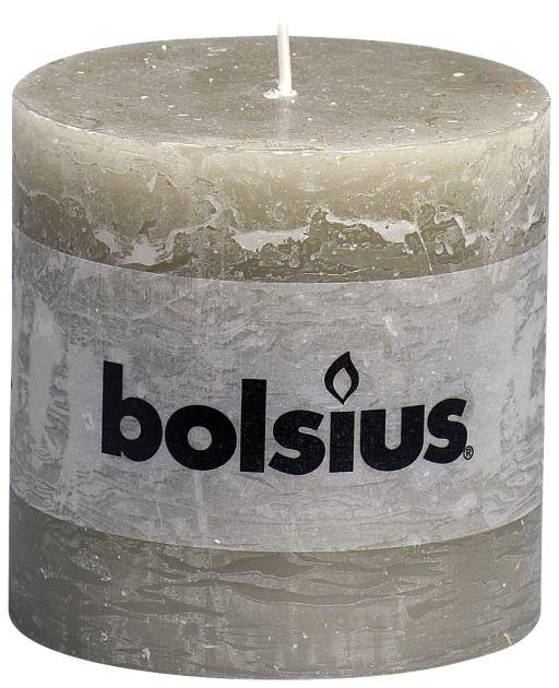 Bolsius kaarsen Pilier bougie rustique 100/100 caillou gris