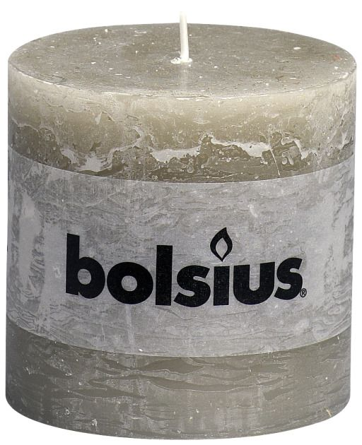 Bolsius kaarsen Pillar candle rustic 100/100 pebble gray