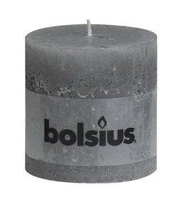 Bolsius kaarsen Pilier bougie rustique 100/100 gris clair