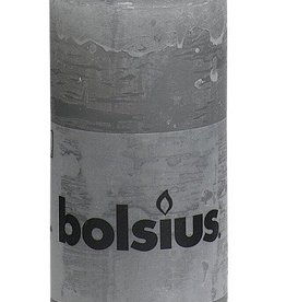 Bolsius kaarsen Stompkaars rustiek 100/50 lichtgrijs