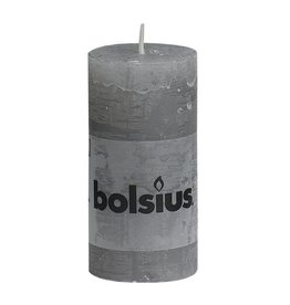Bolsius kaarsen Pilier bougie rustique 100/50 gris clair