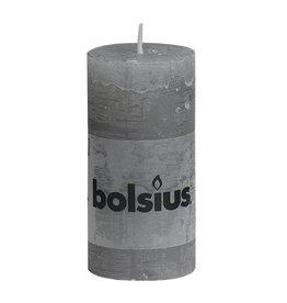 Bolsius kaarsen Pillar candle rustic 100/50 light gray