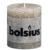 Bolsius kaarsen Pillar candle rustic 80/68 pebble gray
