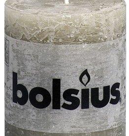 Bolsius kaarsen Stompkaars rustiek 80/68 kiezelgrijs