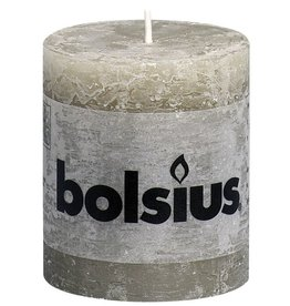 Bolsius kaarsen Pilier bougie rustique 80/68 caillou gris