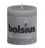 Bolsius kaarsen Pillar candle rustic 80/68 light gray