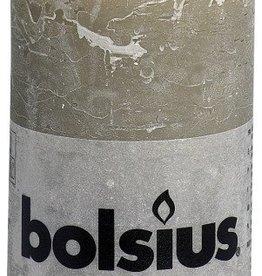 Bolsius kaarsen Stompkaars rustiek 130/68 kiezelgrijs