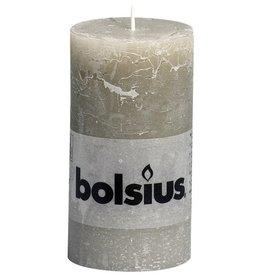Bolsius kaarsen Pillar candle rustic 130/68 pebble gray