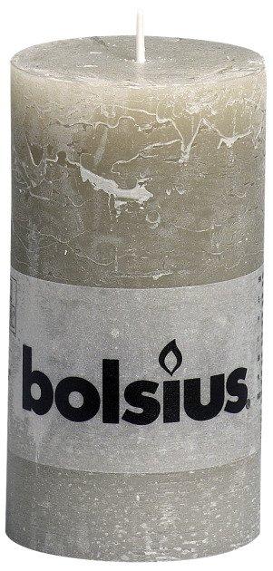 Bolsius kaarsen Pilier bougie rustique 130/68 caillou gris
