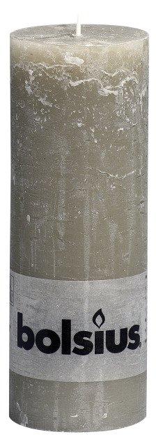Bolsius kaarsen Pillar candle rustic 190/68 pebble gray